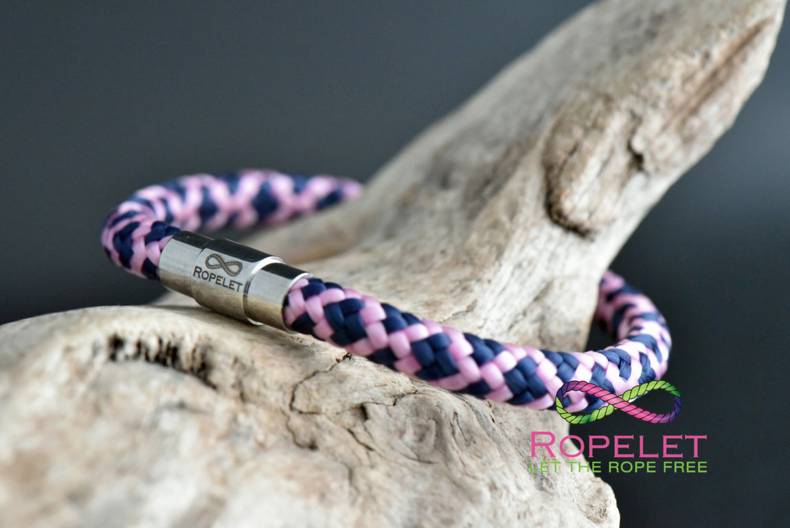 purple and pink Ropelet with magnetic locking clasp from www.ropelet.co.uk