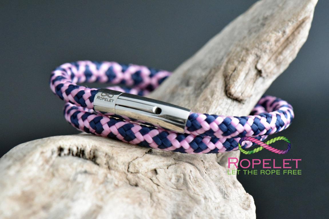 6mm purple and pink  bracelet from www.ropelet.co.uk to style your wrist #ropelet ,bracelet, ladies bracelet, ladies jewelry
