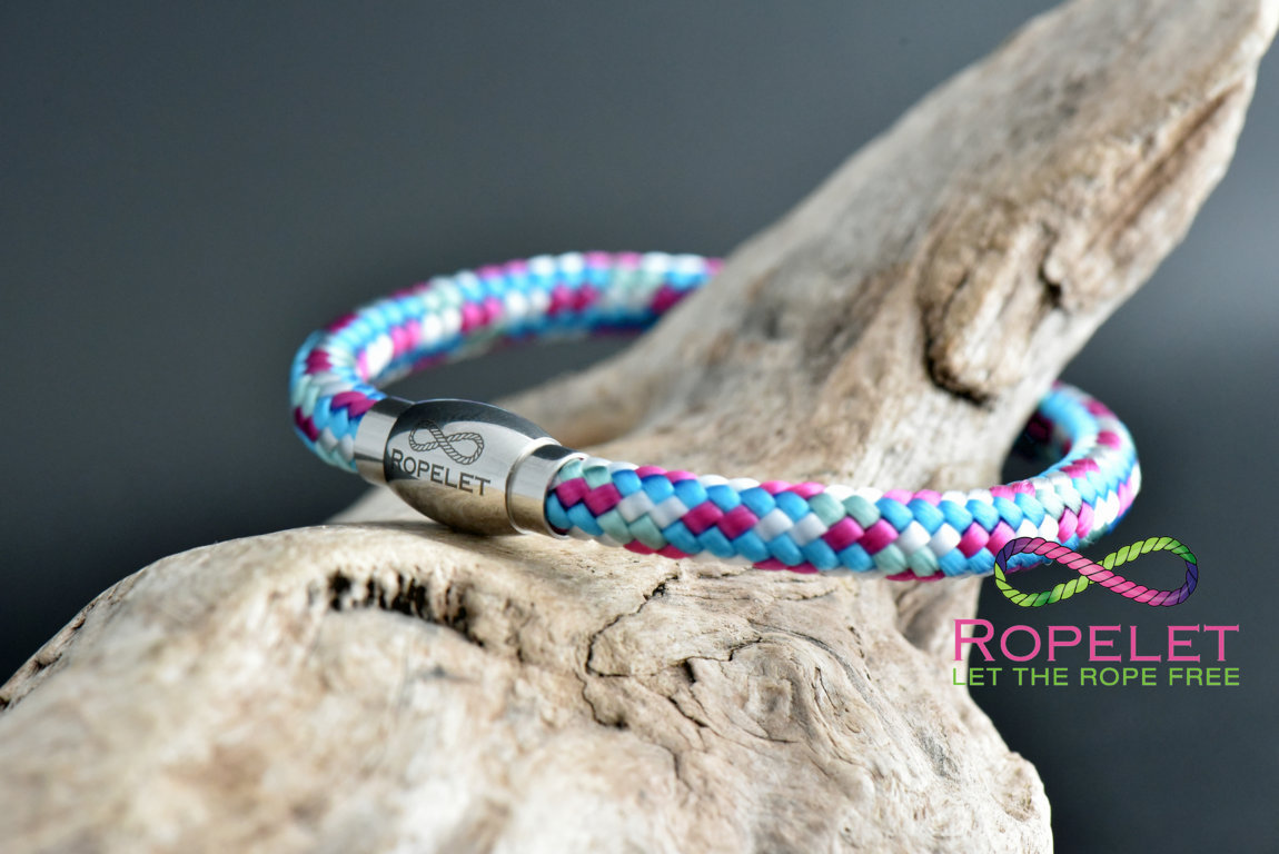 Rope bracelet from www.ropelet.co.uk made to any wrist size , ropelet , jewelry, kite surfiing, sailing, climbing