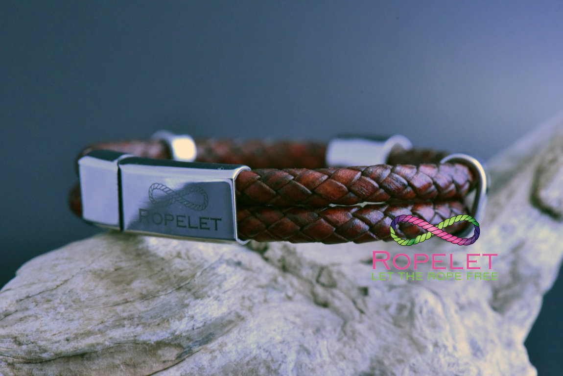 Twin red wine leather bracelet with stainless steel clasp from www.ropelet.co.uk #leatherbracelet #jewelry #bracelet #redwine #leather #wristsyle #ropelet