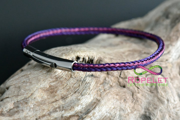 3mm pink and purple stainless steel bracelet made for you at www.ropelet.co.uk #ropelet #bracelet #ladiesbracelet #ladiesjewelry #pinkbracelet #purplebracelet #stainlessjewelry