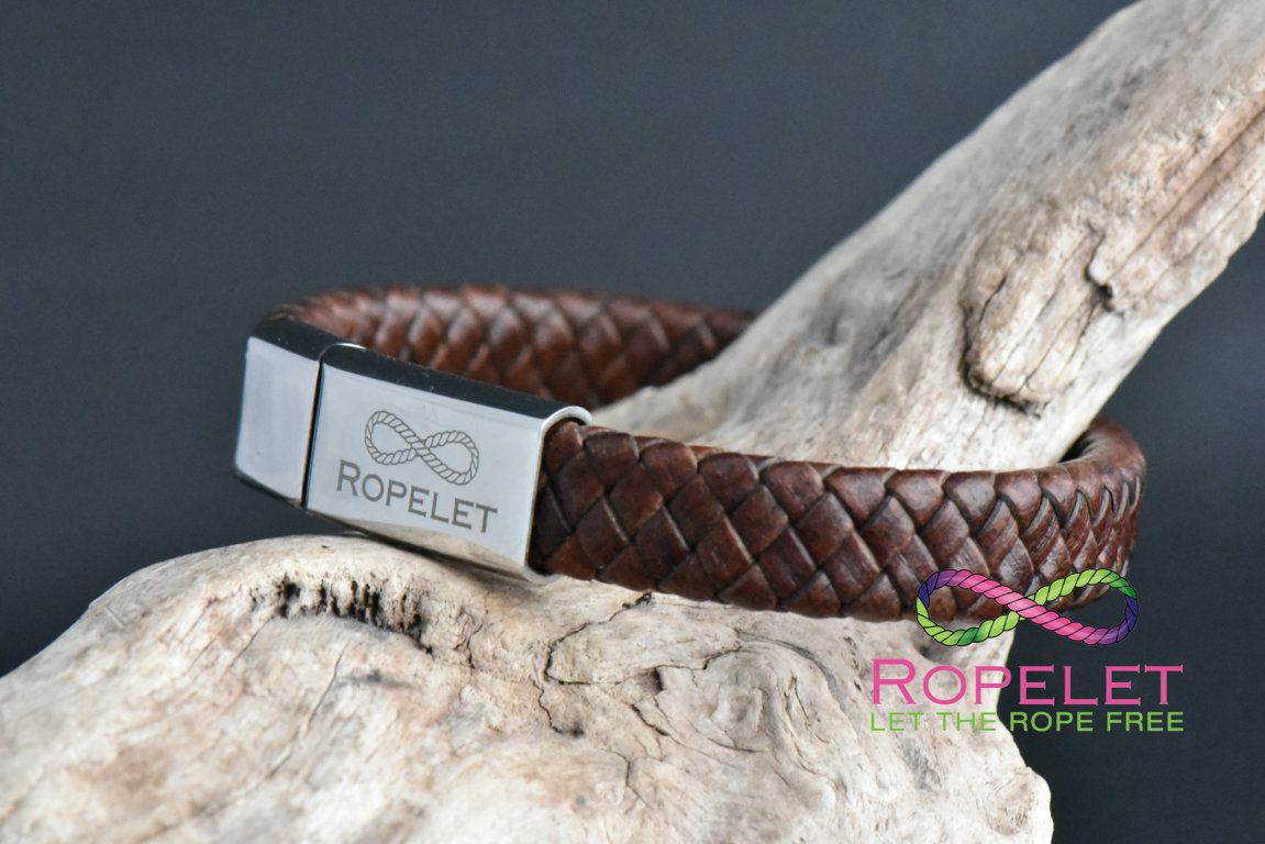 12 mm vintage brown leather bracelet from www.ropelet.co.uk , ropelet, bracelet, leather bracelet, mens bracelet