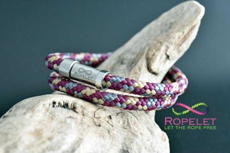 Double wrap option on this rope bracelet, made to style your wrist at www.ropelet.co.uk #bracelet #ropelet #braceletstack #wristband #ropebracelet #mensbracelet