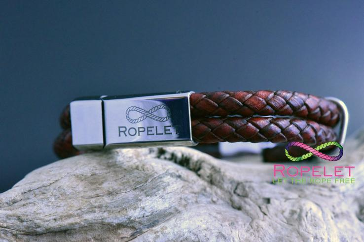 Vintage red wine leather Ropelet with stainless steel clasp made to any wrist size at www.ropelet.co.uk #ropelet #bracelet #leatherbracelet #redwine #redleather #giftsformen #mensbracelet